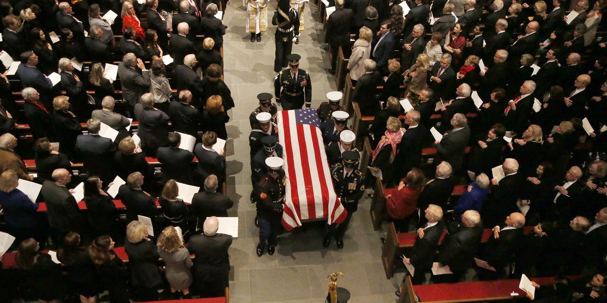 George H.W. Bush mourned