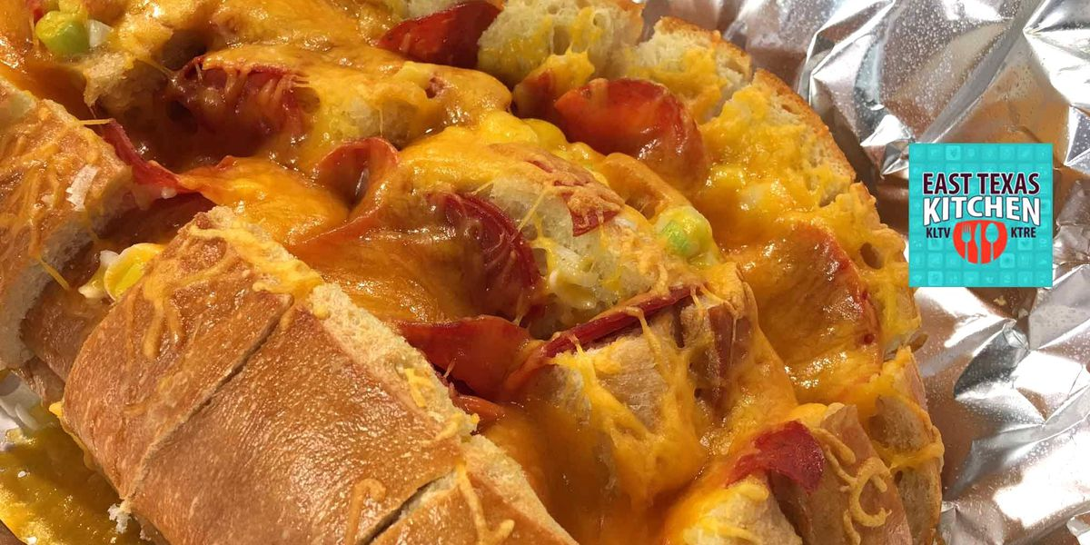 Pepperoni-cheese pull-apart bread by Mama Steph