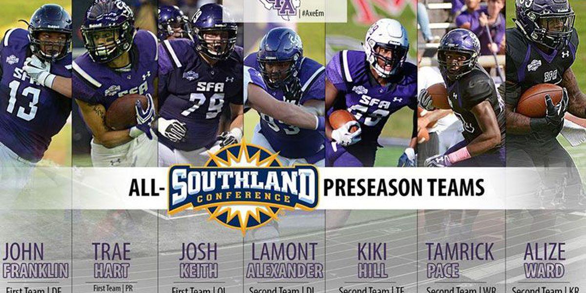 Seven SFA football players make All-Southland Conference preseason teams
