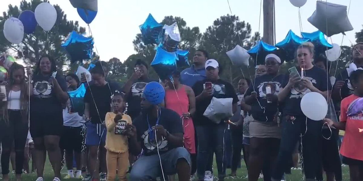 WEBXTRA: Lufkin community gathers to remember Coach Jacoby Wheeler