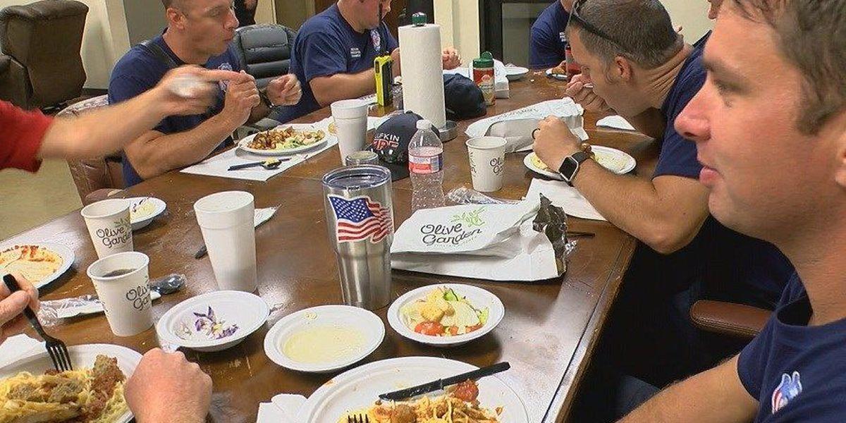 Lufkin Olive Garden feeds law enforcement