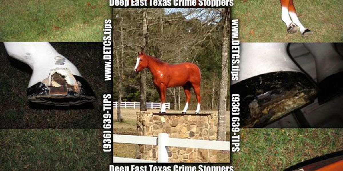Crime Stoppers Crime of the Week: Vandals damage horse statue worth thousands