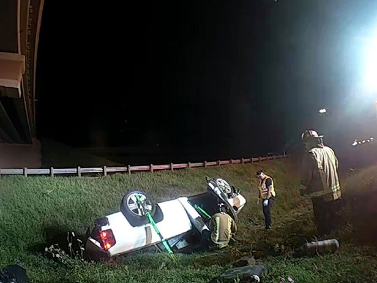 Man dies in 1-vehicle rollover wreck off Lufkin loop
