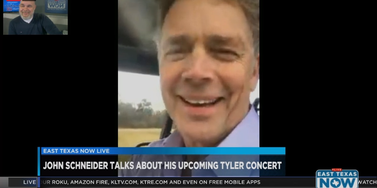 WATCH: Actor, musician John Schneider chats about upcoming concert on East Texas Now
