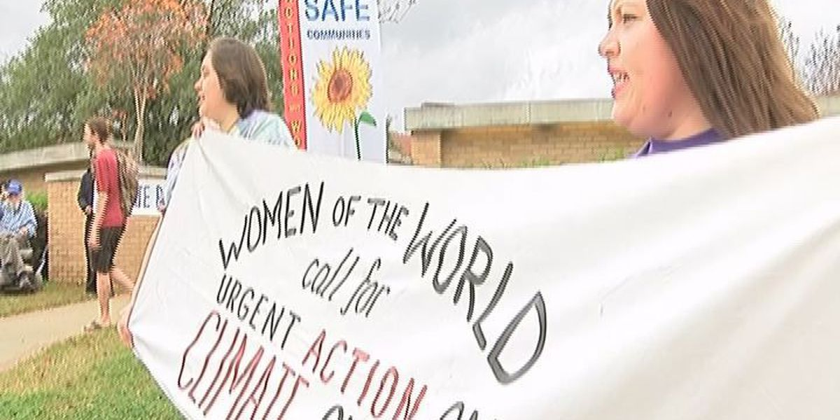 'Resilient Nacogdoches' protest for climate change