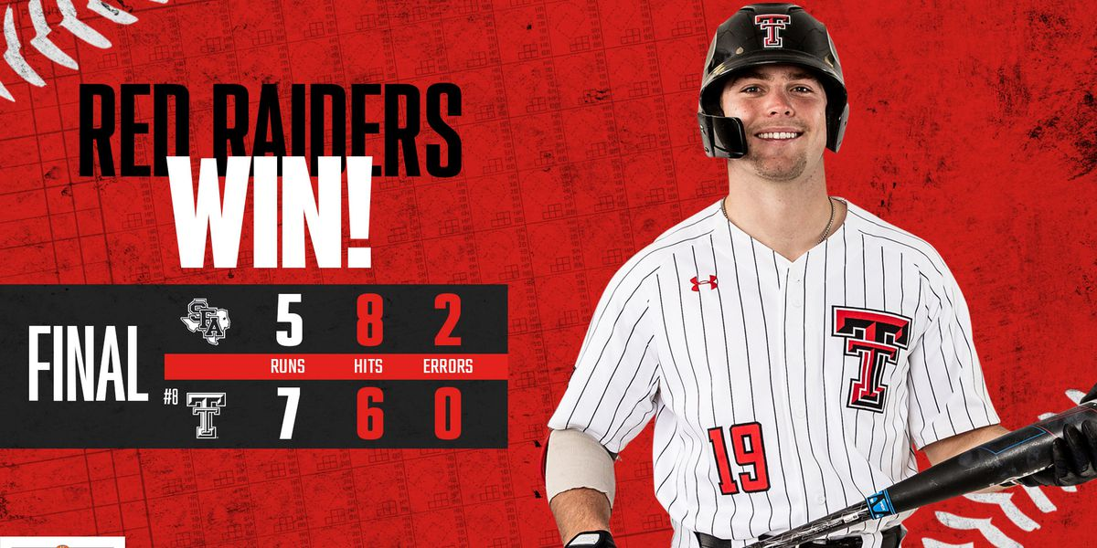 Texas Tech tops Stephen F. Austin 7-5 Wednesday afternoon