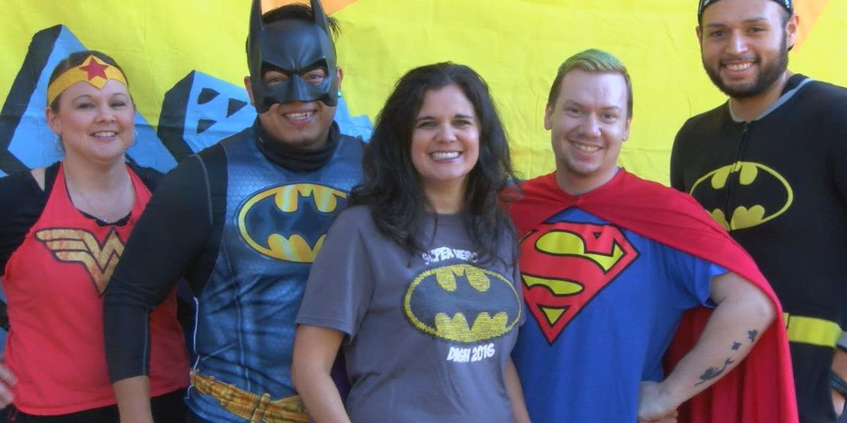 """CASA of the Pines and child advocate supporters dress up for """"Hero Run"""""""