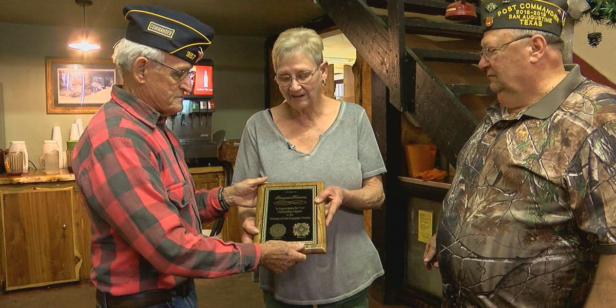 7,000 meals served to veterans by San Augustine woman