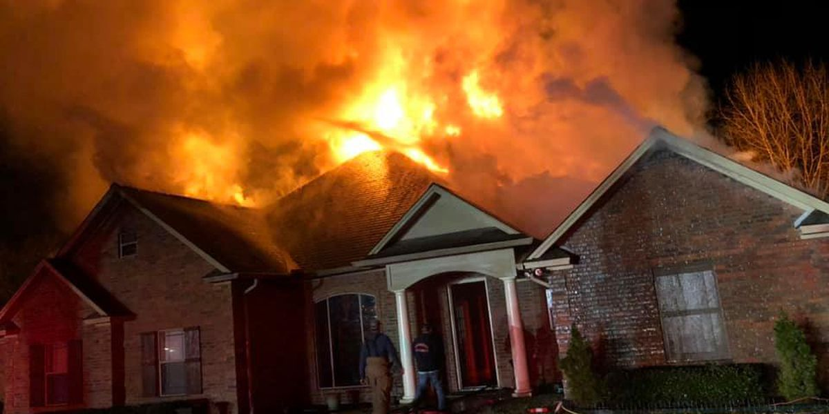 Multiple Nacogdoches County fire departments extinguish house fire on CR 839