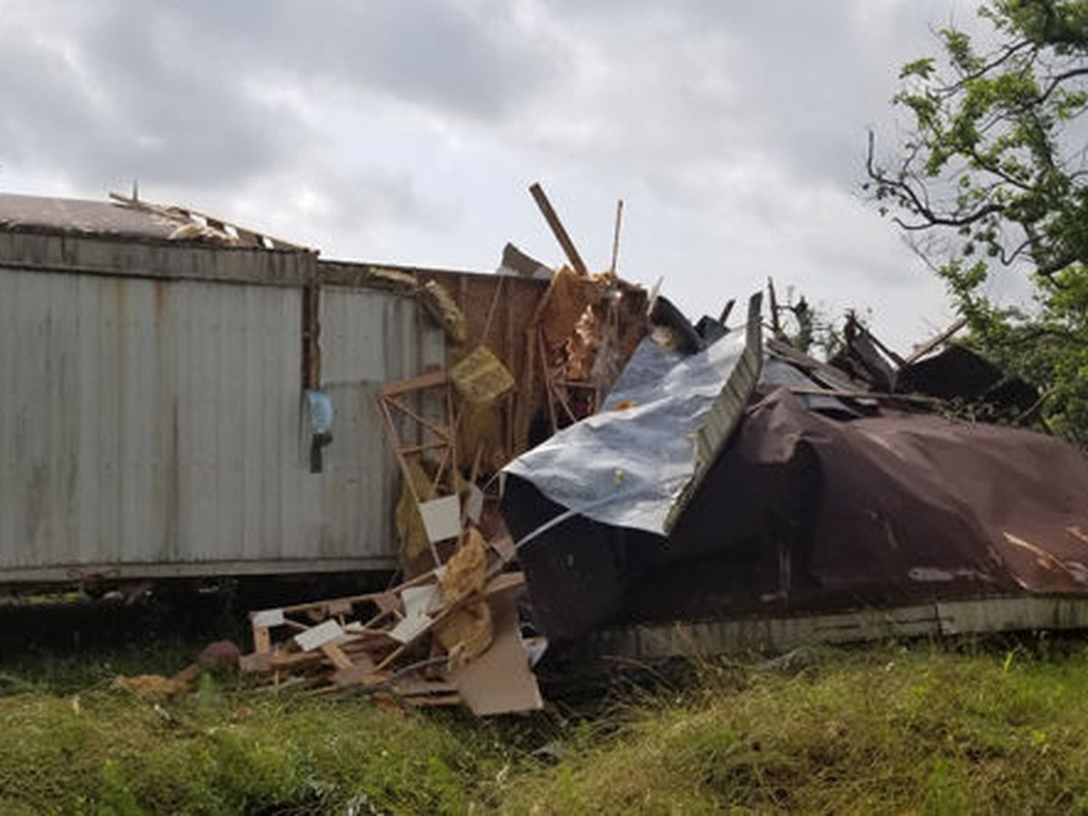 NWS: EF-1 tornado hit Jasper County over weekend, damaged mobile home