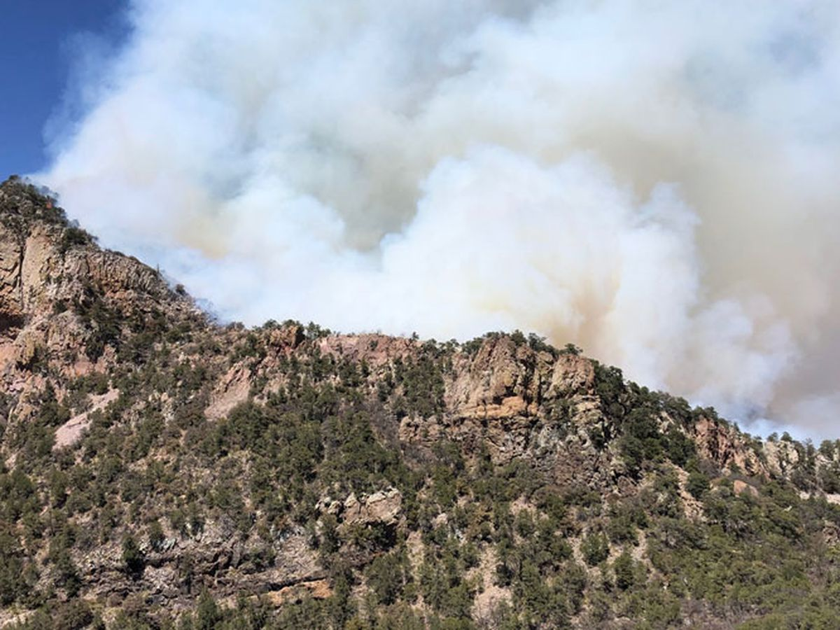 Wildfire burning in Texas' Big Bend National Park