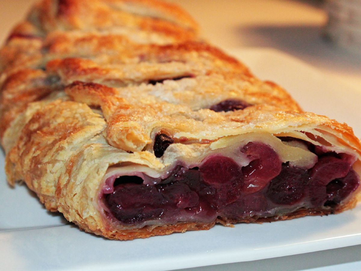 Cherry-cream cheese streudel by Brigitta's Hungarian Restaurant