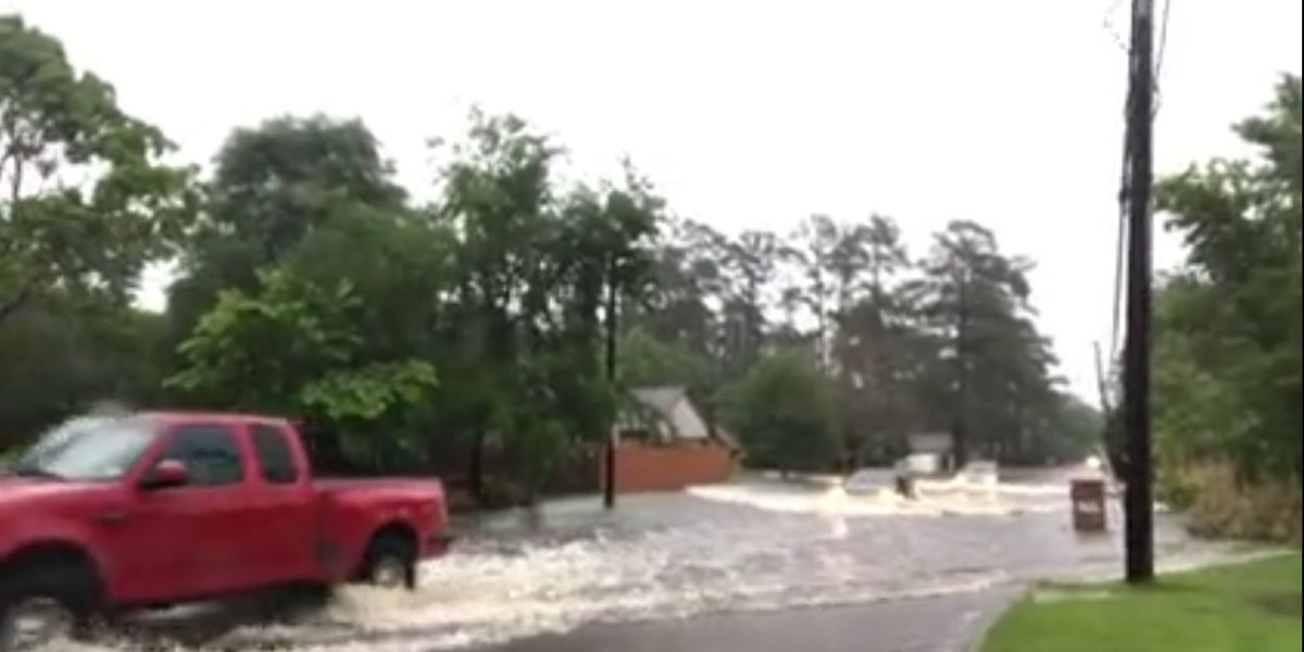 Flooding in Lufkin's Brookhollow subdivision
