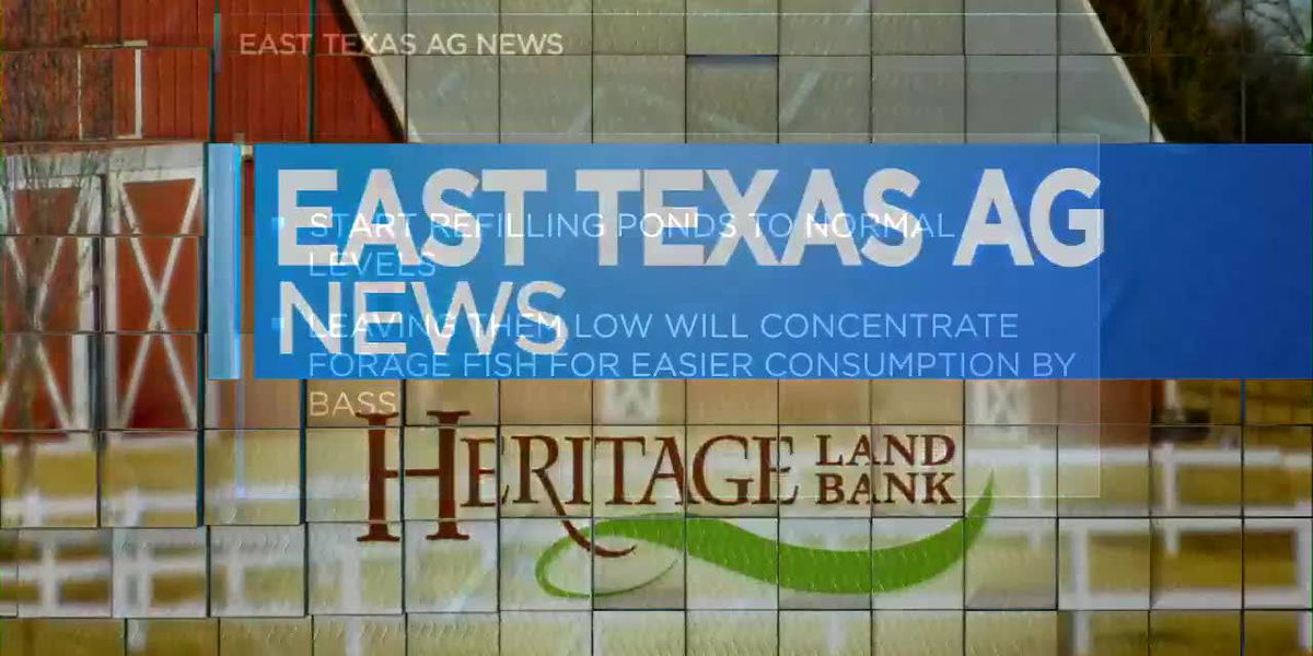 East Texas Ag News: February is month to refill ponds to normal level