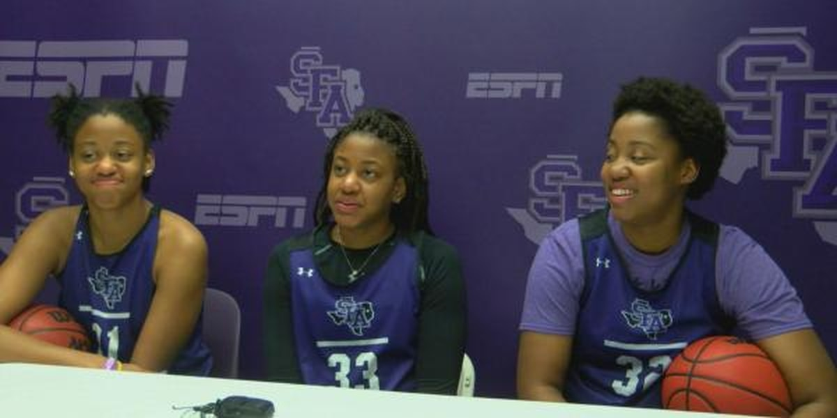 RAW VIDEO: SFA's Johnson sisters bring family bond to the SLC Tournament