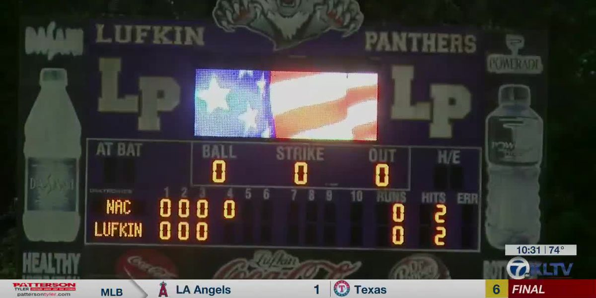 Lufkin wins 3-2 with walk off over Nac to close out time at Morris Frank Park