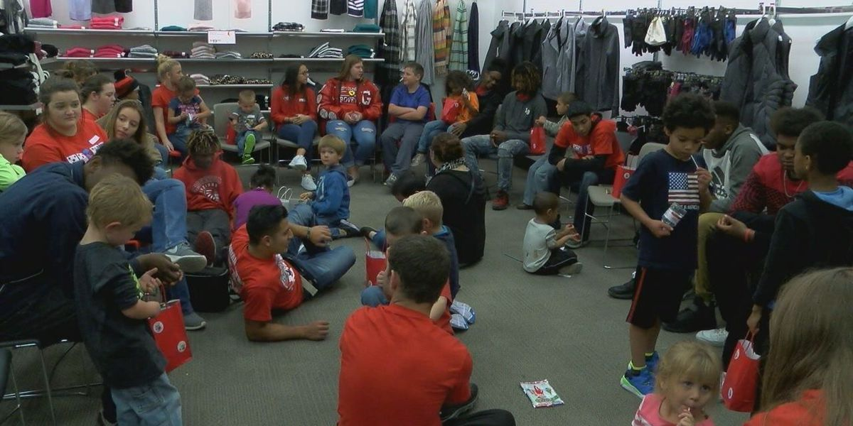 Groveton High School students make a difference in their community with 'Kicks for Kids' campaign