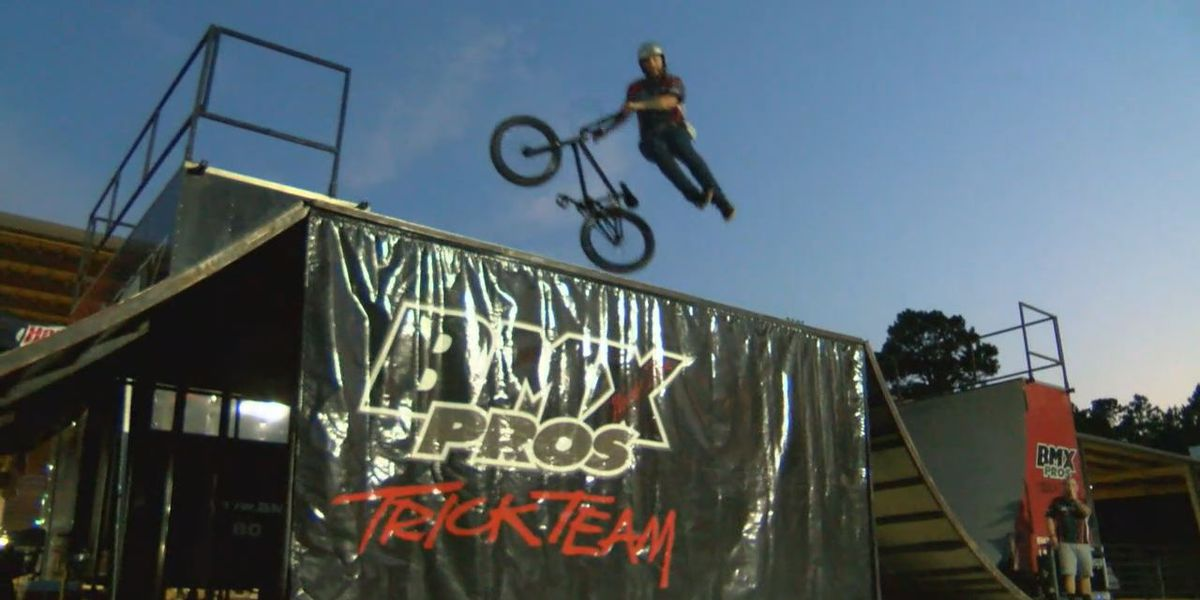 BMX riders thrill Forest Festival guests