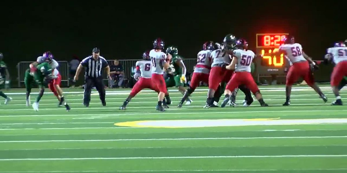 WATCH: Tyler Legacy QB and receiver hook up on wild play