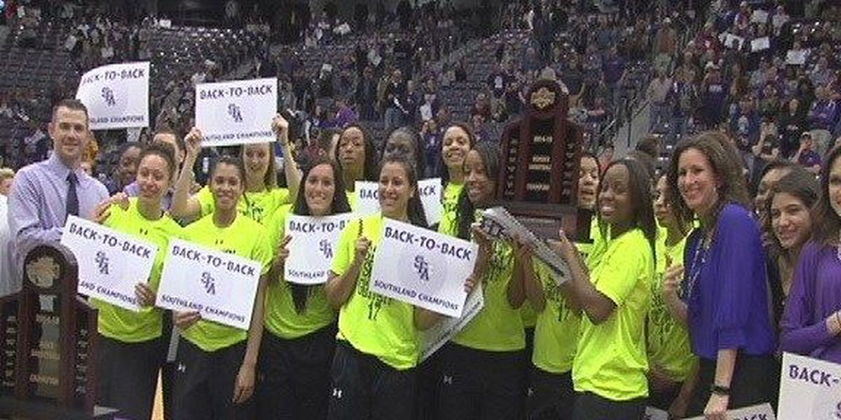 SFA women's basketball team crowned back-to-back SLC champions