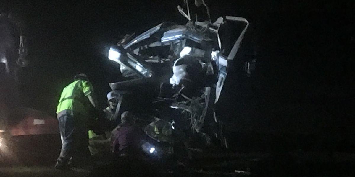 Church bus involved in crash on Highway 69 in Warren