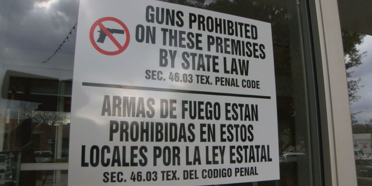 East Texas officials concerned over Open Carry Law and government buildings