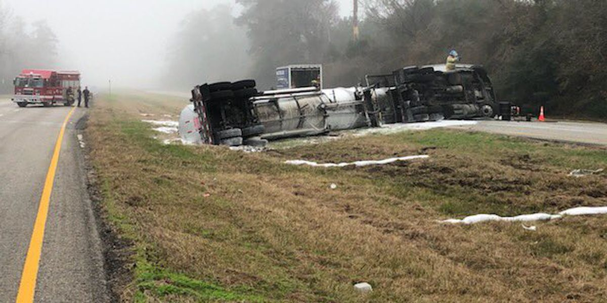DPS: Driver of 18-wheeler fell asleep while driving, causing wreck on US 59