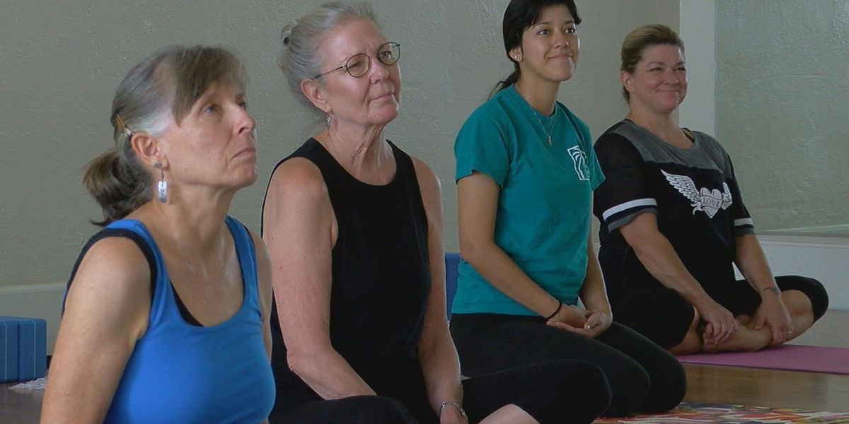 Yogis in Nacogdoches experience drums and yoga