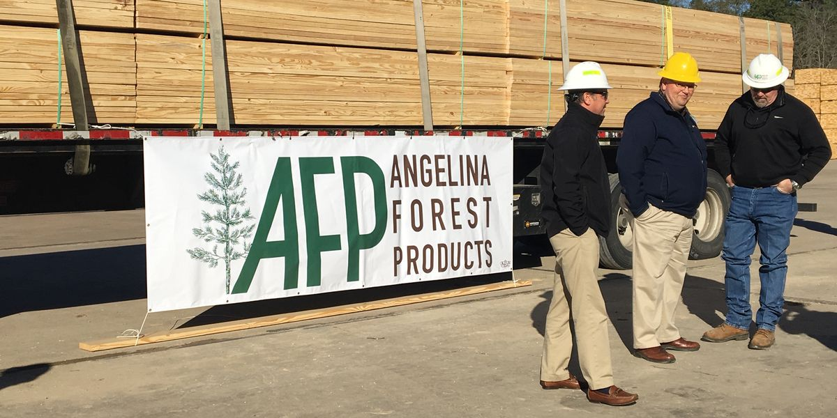 Angelina Forest Products First Load in Lufkin