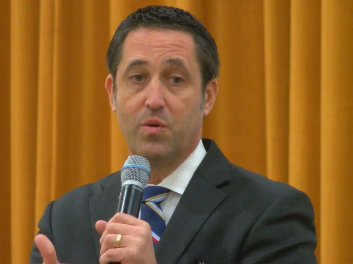 State Comptroller Glenn Hegar speaks at NEDCO in Nacogdoches