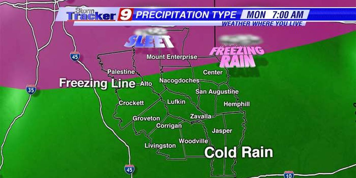 A winter storm has its sights set on East Texas