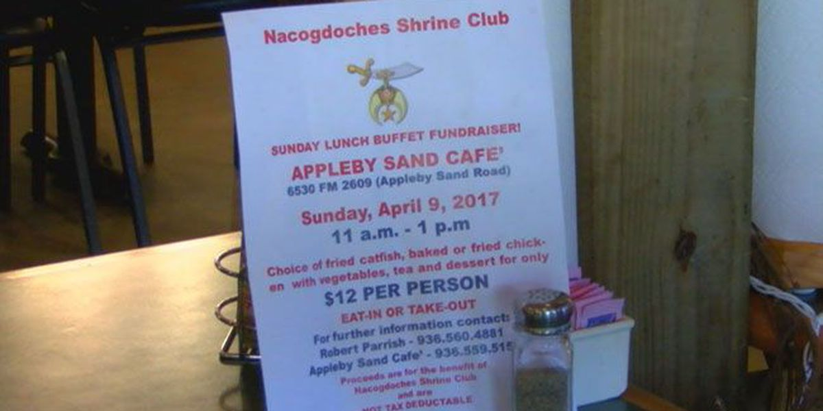 Appleby Sand Mercantile hosting fund-raising lunch for Nacogdoches Shrine Club
