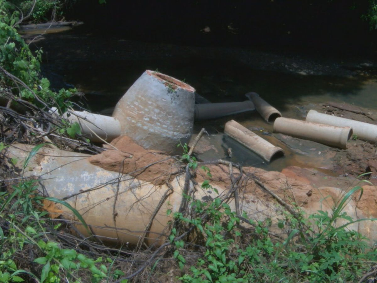 Nacogdoches residents advised not to play in Lanana Creek following major sewer line break
