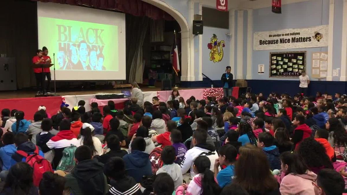 Fourth grader prepares Black History Month presentation for entire Nacogdoches school