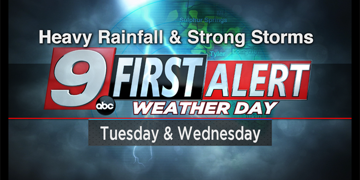 First Alert Weather Days declared for Tuesday and Wednesday