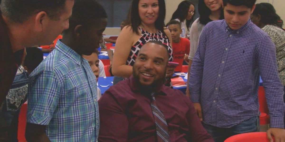 San Augustine Boys and Girls Club gets visit from ETX native, NFL player