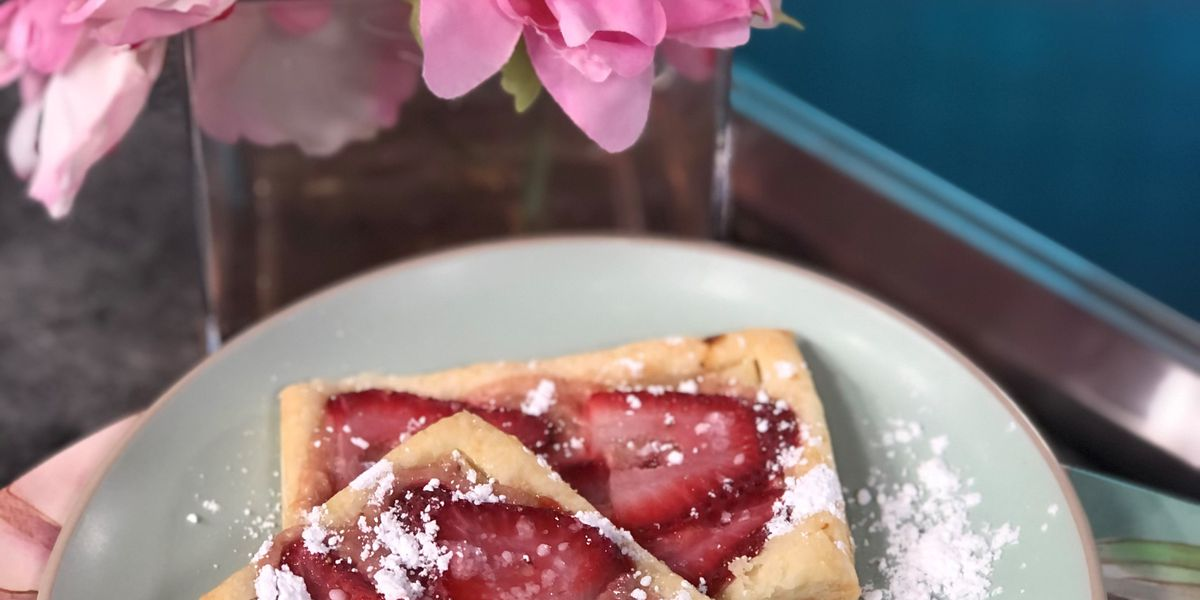 Strawberry breakfast pastries by Mama Steph