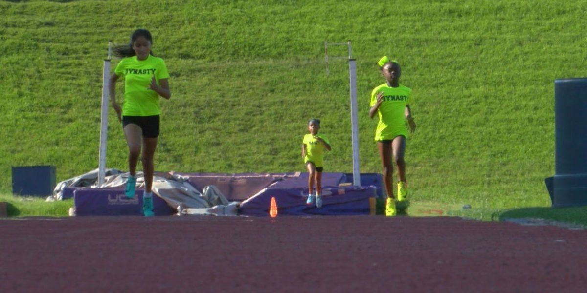 Dynasty Track Club running to AAU Junior Olympics