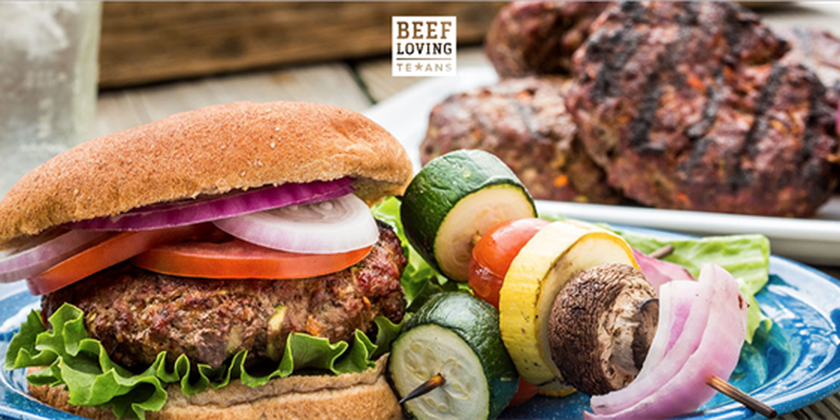 Lone Star beef and veggie burger by Texas Beef Council