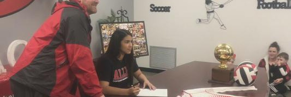 Signing Day in Diboll for Ariana Compean