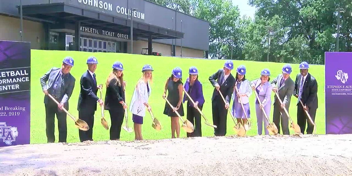 WEBXTRA: SFA breaks ground on $26 million basketball practice facility
