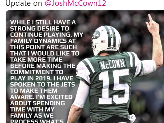 East Texas native Josh McCown contemplates retirement