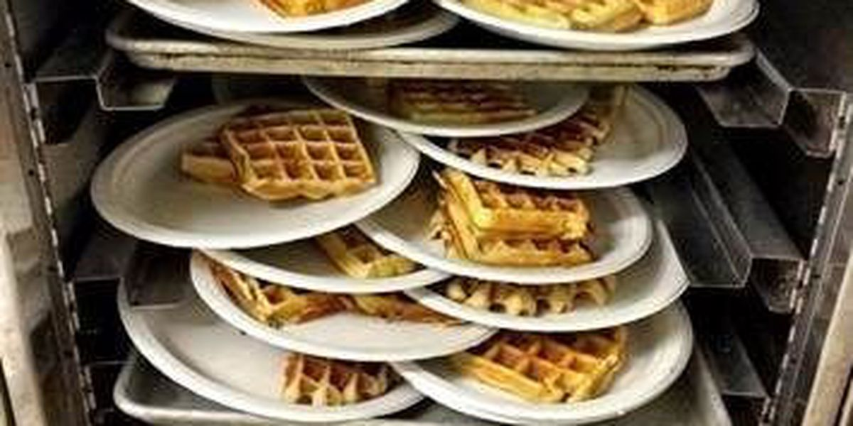 Lufkin Rotary Club bakes waffles for charities & new playground