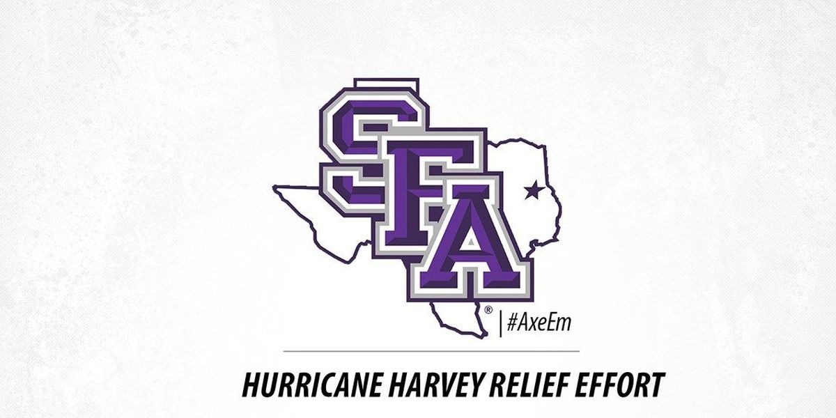 SFA athletics participating in campus-wide relief effort for victims of Hurricane Harvey