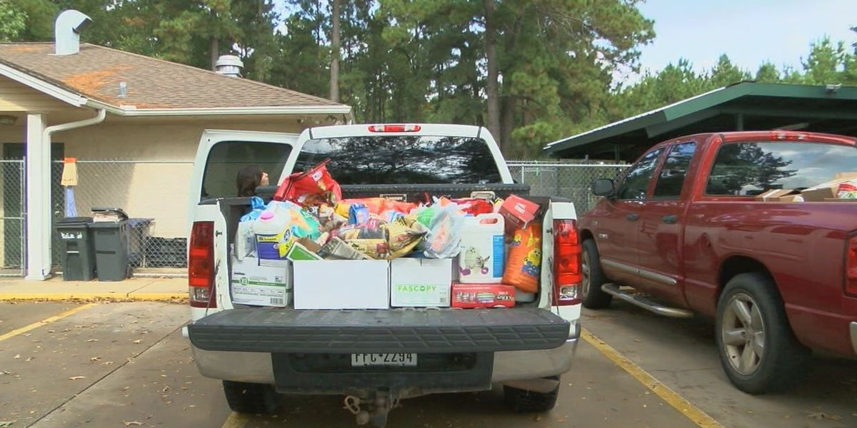 Lufkin student's campaign helps donate 4000 lbs of pet supplies to Humane Society