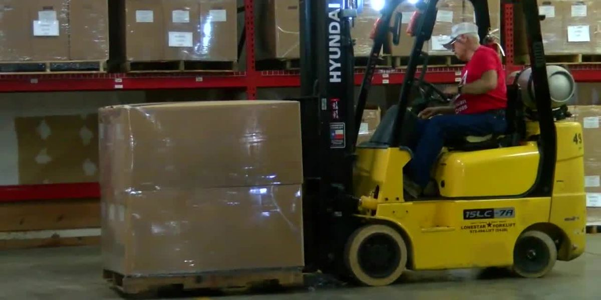 WEBXTRA: American Red Cross warehouse in Lufkin sends more supplies to storm victims