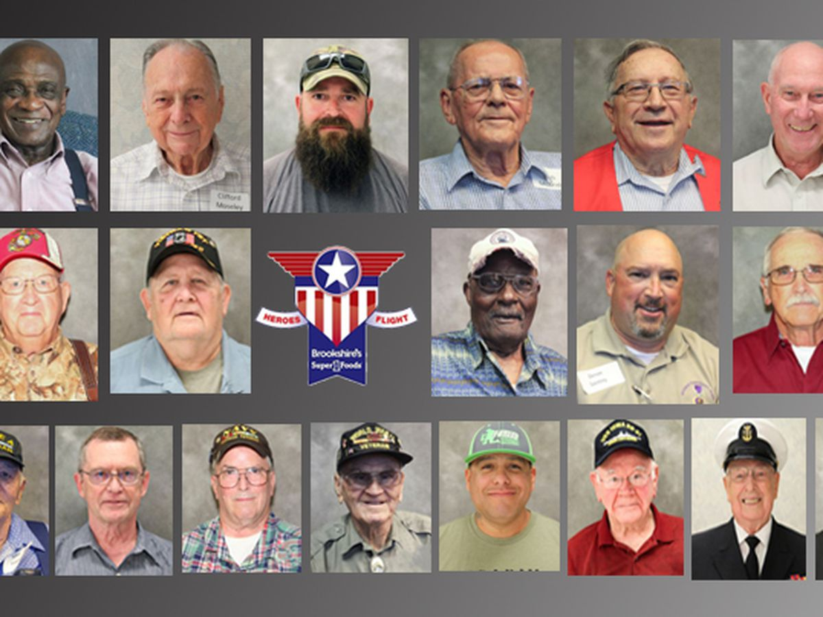 SLIDESHOW: Veterans to attend 19th Brookshire Grocery Co. Heroes Flight