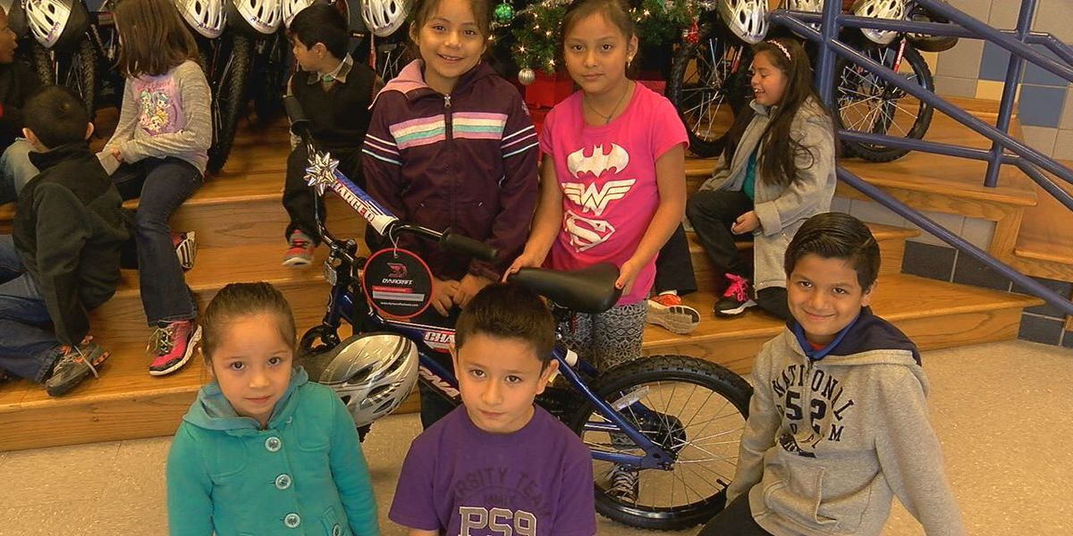Burley Primary students surprised with new bikes