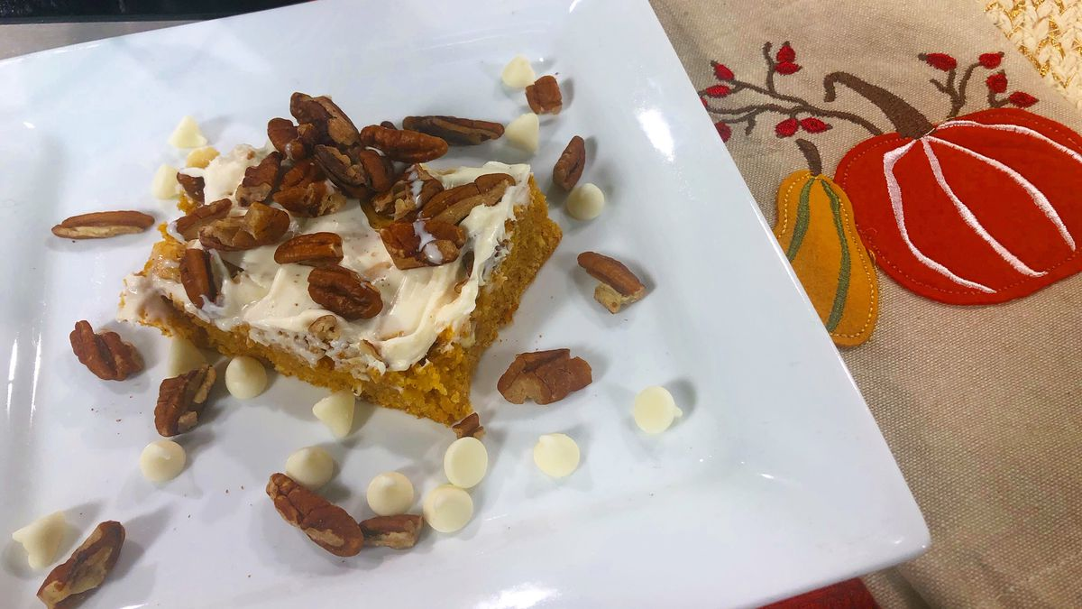 Pumpkin-white chocolate pudding cake by Mama Steph