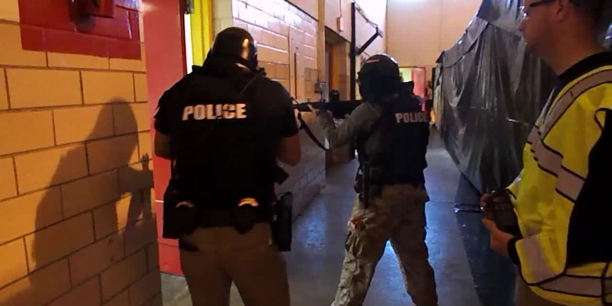 VIDEO: Lufkin police officers, firefighters train for active shooter events